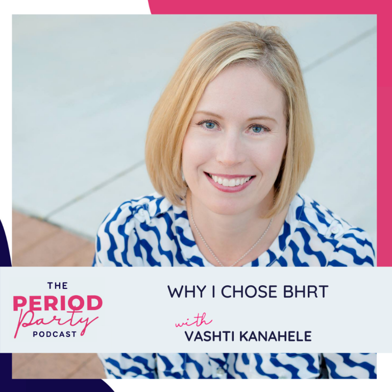 Pictured here is podcast guest Vashti Kanahele who joins us on the Period Party Podcast to talk about bio-identical hormone replacement therapy (BHRT).
