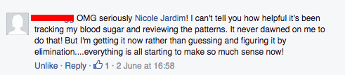 OMG seriously Nicole Jardim!  I can't tell you how helpful it's ben tracking my blood sugar and reviewing the patterns...