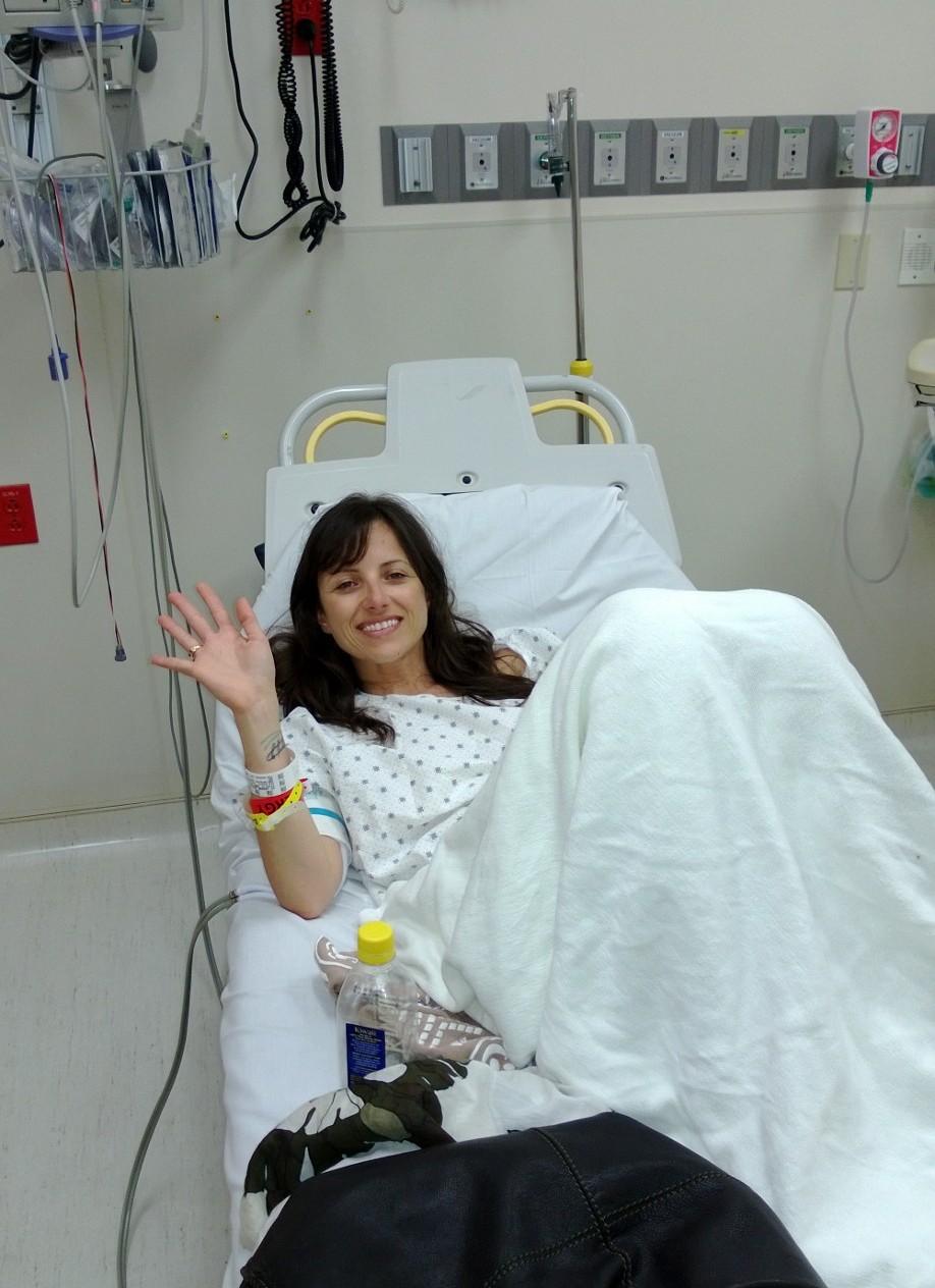 Nicole Jardim in hospital