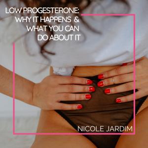 Low Progesterone Nicole Jardim
